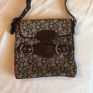 Genuine DKNY purse Brown leather